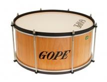 Gope Percussion Za1620wo-hbk - Zabumba Bois 16 Cercle Noir - 20cm Profondeur