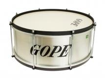 Gope Percussion Za1820al-hbk - Zabumba Alu 18 Cercle Noir - 20cm Profondeur
