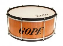 Gope Percussion Za1820wo-hbk - Zabumba Bois 18 Cercle Noir - 20cm Profondeur