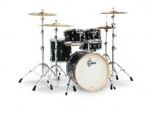 Gretsch Drums Catalina Birch 5 Futs 20/10/12/14/14 Ebony Satin - Cs1-j405-es Noire