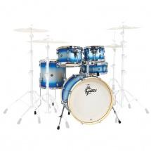 Gretsch Drums Catalina Birch 5 Futs 20/10/12/14/14 Blue-silver Duco - Cs1-j405-bsd