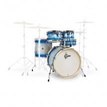 Gretsch Drums Catalina Birch 5 Futs 22/10/12/14/14 Blue-silver Duco - Cs1-e625-bsd