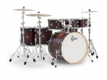 Gretsch Drums Catalina Maple 7 Futs22/8/10/12/14/16/14sd Satin Dark Cherry Burst Cm1-e826p-sdc Rouge Degrad