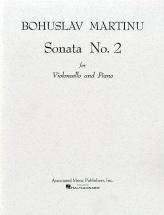 Martinu Bohuslav - Sonate N°2 - Violoncelle Et Piano