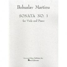 Martinu B. - Sonate N° 1 Pour Alto Et Piano