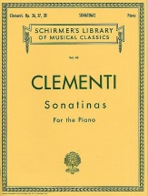 Muzio Clementi Sonatinas For The Piano Op.36-38 - Piano Solo