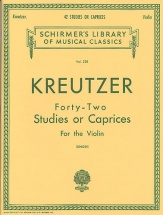 Rodolphe Kreutzer Forty-two Studies Or Caprices - Violin