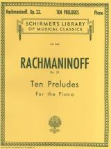 Sergei Rachmaninov Ten Preludes For Piano Op.23 - Piano Solo