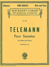 Telemann G.p. Four Sonatas For Flute And Piano