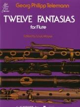 Telemann G.p. - Twelve Fantasias For Solo Flute - Flute