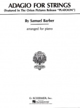 Barber Samuel - Adagio Pour Cordes - Piano