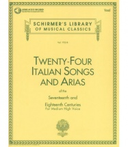 24 ITALIAN SONGS and ARIAS OF THE 17th and 18th CENTURIES - MEDIUM HIGH VOICE