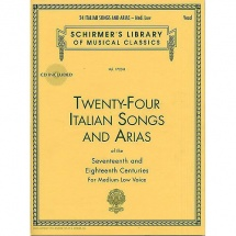 Twenty-four Italian Songs And Arias Of The 17th And 18th Centuries - Voice