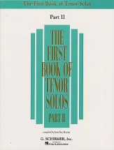 The First Book Of Tenor Solos Part Ii - Tenor