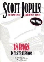 Scott Joplin 18 Rags In Easier Versions - Piano Solo