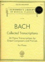 J.s. Bach Collected Transcriptions - Piano Solo