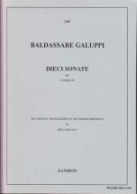 Galuppi B. - Dieci Sonate (8 Sonate E 2 Divertimenti) - Clavecin