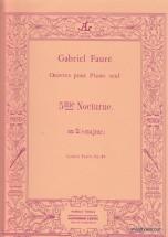 Faure Gabriel - Nocturne N°5 Op.37 - Piano