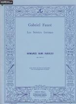 Faure Gabriel - Romance Sans Paroles Op.17 N°3 (ou Alto Ou Violoncelle)