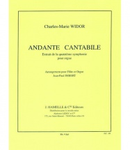 Widor C.-m. - Andante Cantabile - Flute and Orgue