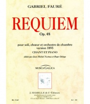 Faure Gabriel - Requiem Op.48 - Chant, Piano