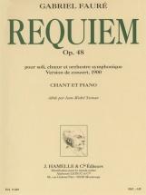 Faure Gabriel - Requiem Op.48 (version 1900) - Chant, Piano