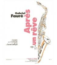 Faure Gabriel - Apres Un Reve - Saxophone Alto Et Piano