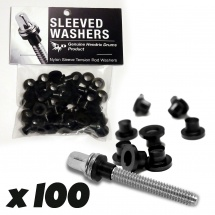 Sleeved Washers By Hendrix Dru Sleeved Washers - Rondelles Noires (x100)