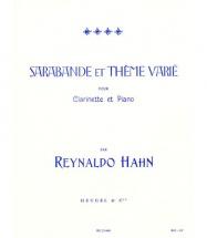Hahn R. - Sarabande & Theme Varie - Clarinette & Piano