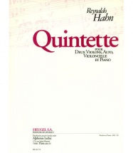Hahn Reynaldo - Quintette Pour Deux Violons, Alto, Violoncelle and Piano - Conducteur and Parties