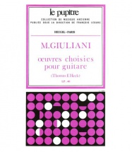 Giulani Oeuvres Choisies Pour Guitare