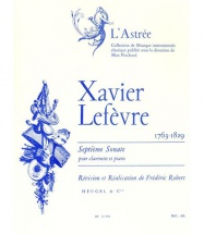 Lefevre / Robert - Sonate N°7 -clarinette Et Piano