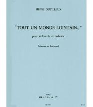 Dutilleux Henri - Tout Un Monde Lointain... - Violoncelle & Piano