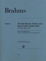 Brahms J. - Trio Avec Cor Mi Bemol Majeur Op.40
