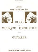 Martinez-zarate Jorge - Duos De Musique Espagnole - 2 Guitares