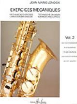 Londeix J.m. - Exercices Mecaniques Vol.2 - Saxophone
