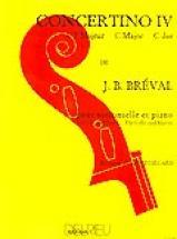 Breval Jean-baptiste - Concertino N°4 En Ut Maj. - Violoncelle, Piano