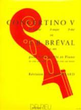 Breval Jean-baptiste - Concertino N°5 En Ré Maj. - Violoncelle, Piano
