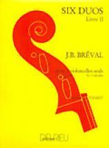 Breval J.b. - Duos (6) Vol.2 - 2 Violoncelles