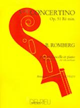 Romberg Bernhard-heinrich - Concertino N°3 Op.51 En Ré Min. - Violoncelle, Piano