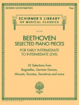 Ludwig Van Beethoven - Selected Piano Pieces: Early Intermed To Intermed - Piano