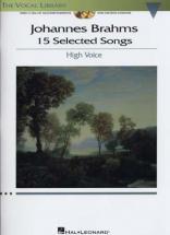 Brahms J. - 15 Selected Songs + 2 Cd - Voix Haute/piano