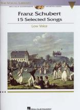 Schubert - 15 Selected Songs + 2 Cd - Piano, Low Voice