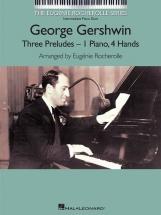 Gershwin George - 3 Preludes For Intermediate - Piano Duet
