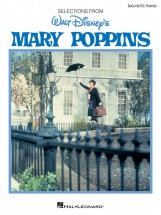 Mary Poppins Walt Disney Big Note Piano Vocal Selections - Piano Solo
