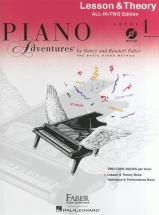 Piano Adventures All In Two Level 1 Lesson Theory Anglicised + Cd - Piano Solo