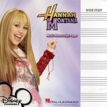 Hannah Montana Music Manuscript Paper Wide Staff - Theory