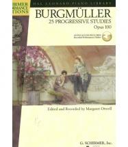 BURGMULLER J.F. - 25 PROGRESSIVE PIECES OP.100 + MP3 - PIANO