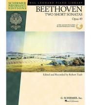 STUDENT PIANO LIBRARY BTHVN 2 SHORT SONATAS OP49 + MP3