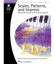 HAL LEONARD STUDENT PIANO LIBRARY SCALES PATTERNS AND IMPROVS 2 + MP3